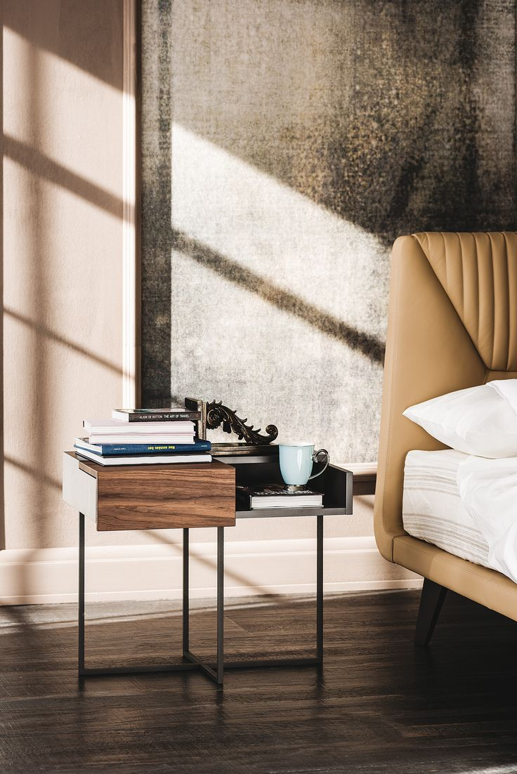 This truly is an elegant bedside table can transform your bedroom into a classic room. It is ultra - modern with a unusual shaped legs.