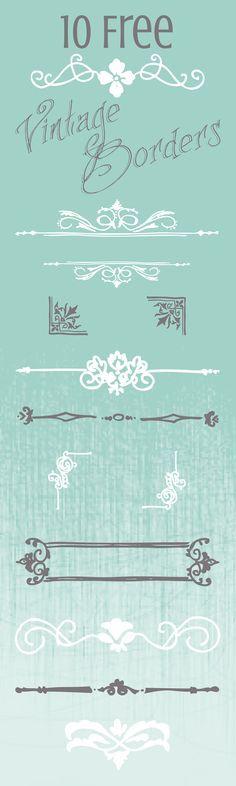 10 Free Vintage Border Graphics for your Printables & Digital Designs