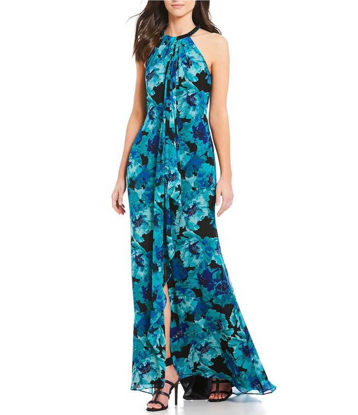 Shop for Calvin Klein Beaded Halter Floral-Print Gown at Dillards.com. Visit Dillards.com to find clothing, accessories, shoes, cosmetics & more. The Style of Your Life.