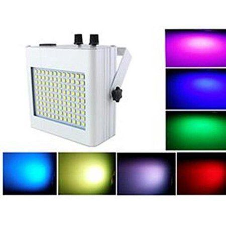 Lightahead LED Sound Activated Stage Light ? Multi Color Auto Strobe Light with Adjustable Flash Rate (108 LED)