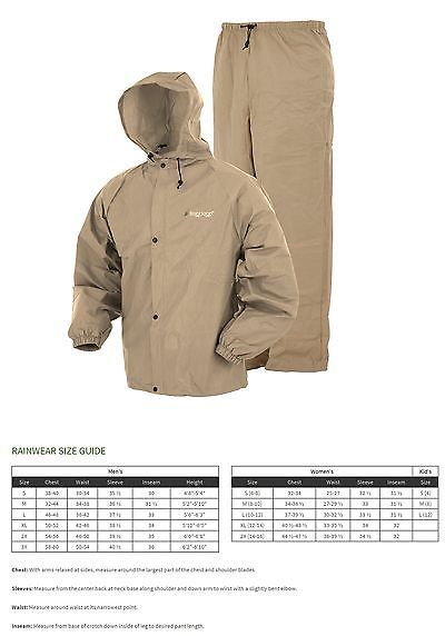Jacket and Pants Sets 179981: Frogg Toggs Pro Lite Rain Suit, X 2X, Khaki -> BUY IT NOW ONLY: $35.27 on eBay!