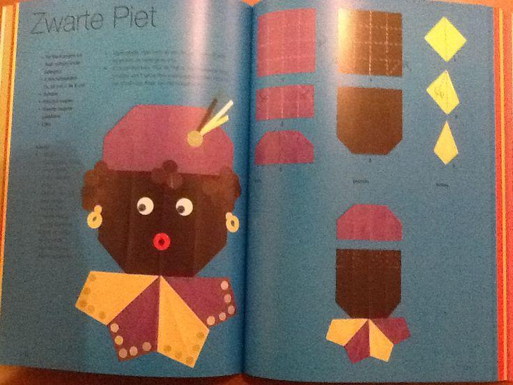Hoofd van Zwarte Piet vouwen (Thea van Mierlo)