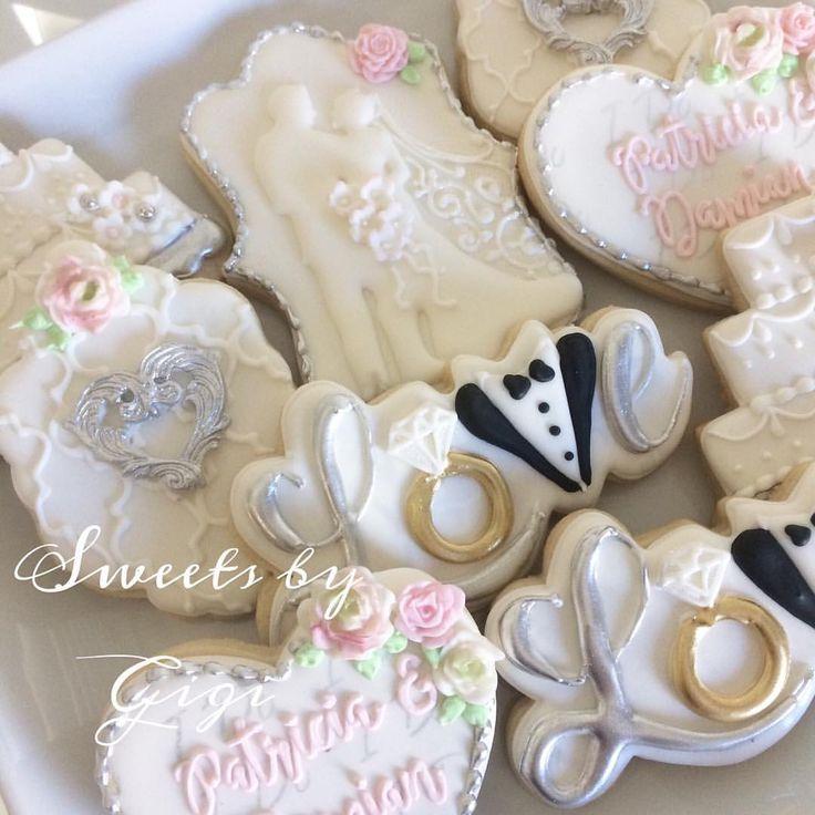 "32 Likes, 3 Comments - @sweetsbygigi on Instagram: ""Wedding cookies #wedding #weddingcookies #weddingplanner #weddingideas #custommade #customcookies…"""