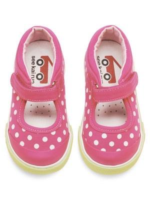 See Kai Run Baby & Toddler Girls Adalynn Hot Pink Mary Jane Sneakers