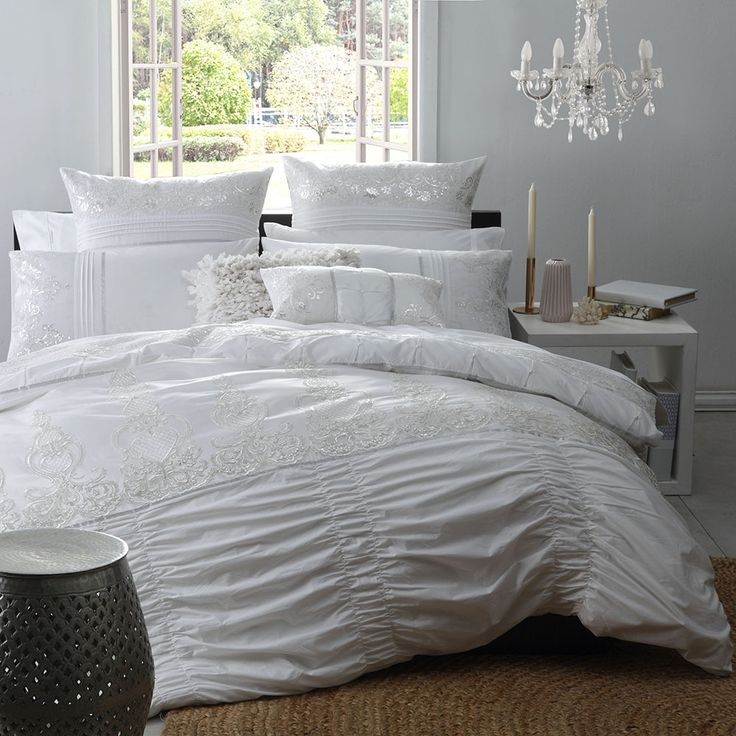 L'Amour Pearl Quilt Cover Set | More Sizes Available by Ultima Bedlinen on THEHOME.COM.AU