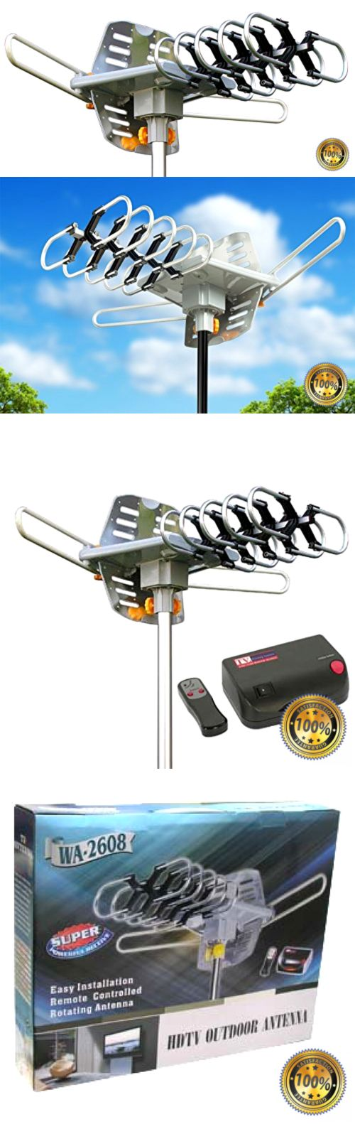 Antennas and Dishes: Amplified Hd Digital Outdoor Hdtv Antenna 150 Miles Long Range With Motorized 36 -> BUY IT NOW ONLY: $74.22 on eBay!