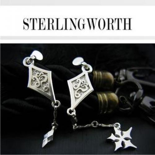 Engraved Sliver Drop Earrings