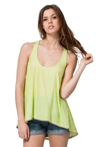 CHIC RACERBACK TANK TOP LIME