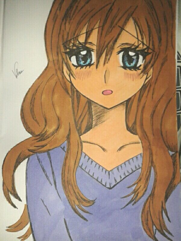 Girl draw anime draw color draw
