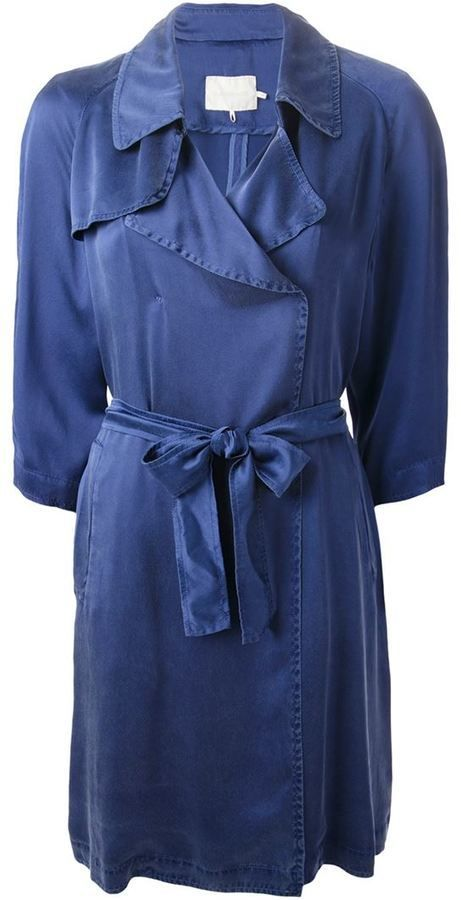 $285, L'Autre Chose Belted Lightweight Trench Coat. Sold by farfetch.com. Click for more info: https://lookastic.com/women/shop_items/420474/redirect