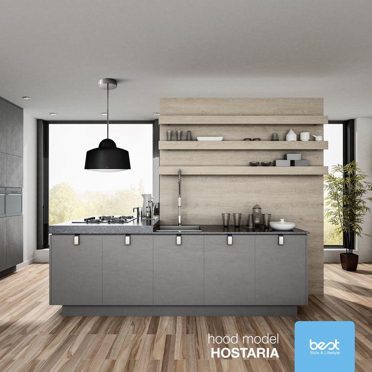 Czarny to #definicja, #styl, #elegancja. Czarny to #charakter. Przedstawiamy #hostaria w wersji czarnej, wyspowy okap marki Best do kuchni Waszych marzeń.  Foto: #Best #best #Hostaria