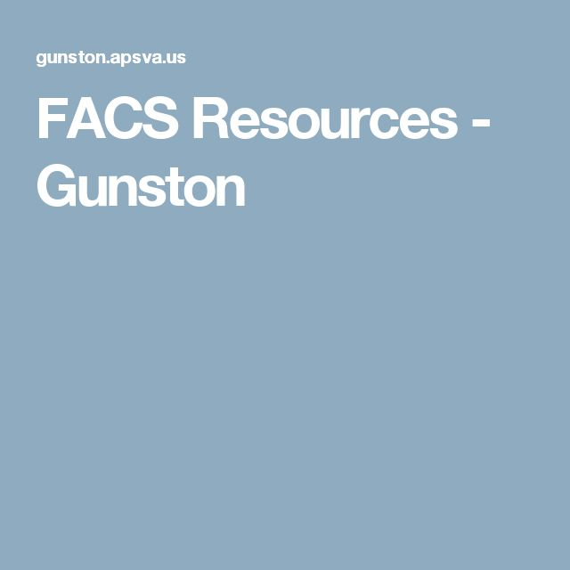 450 best FACS Ed - Middle & High Resources images on Pinterest ...