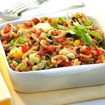 Ovenschotel van pasta en groente