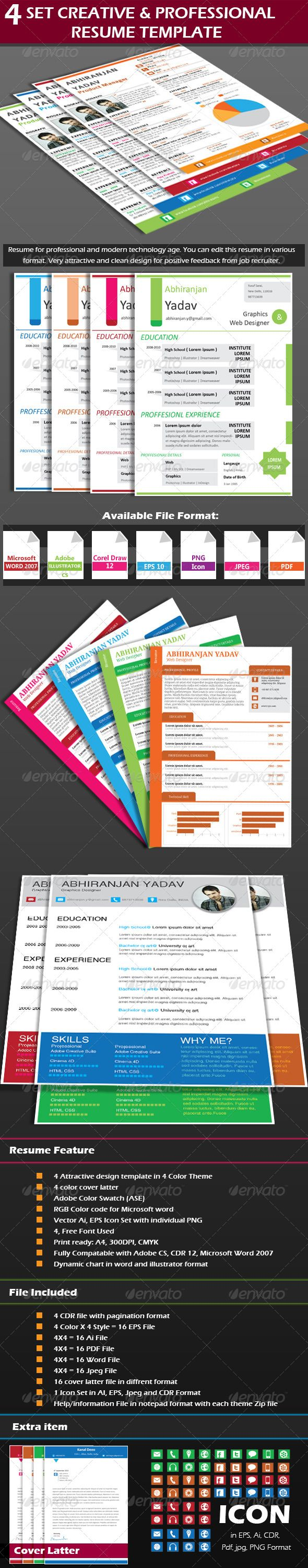 best images about computer programs cover letter 4 set creative professional resume template