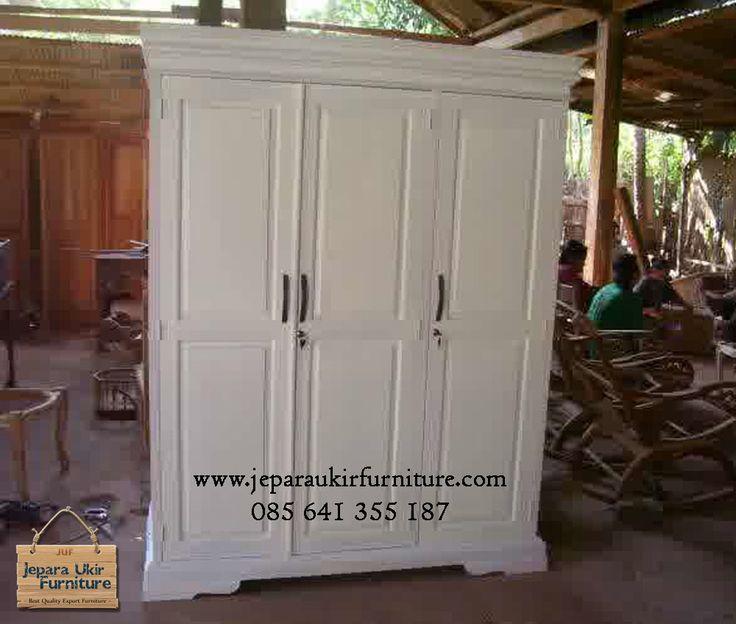 Almari 3 Pintu minimalis - mahoni