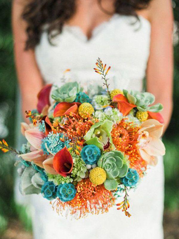 5 Passos para a Escolha do Buquê da Noiva Colorido