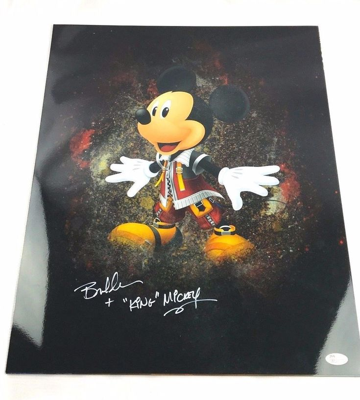 Bret Iwan Autograph 16x20 Photo Mickey Mouse Picture Signed JSA Disney Z3
