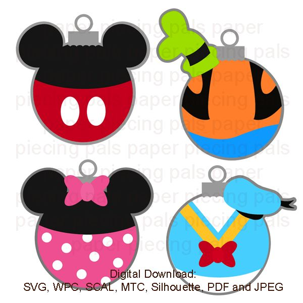SVG cut file. Magical Ornaments. #Disney