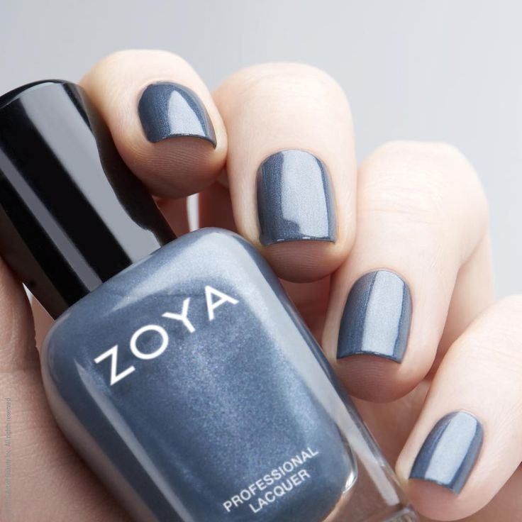 On our nails today was Zoya Nail Polish in Marina, a fave blue to wear any time …