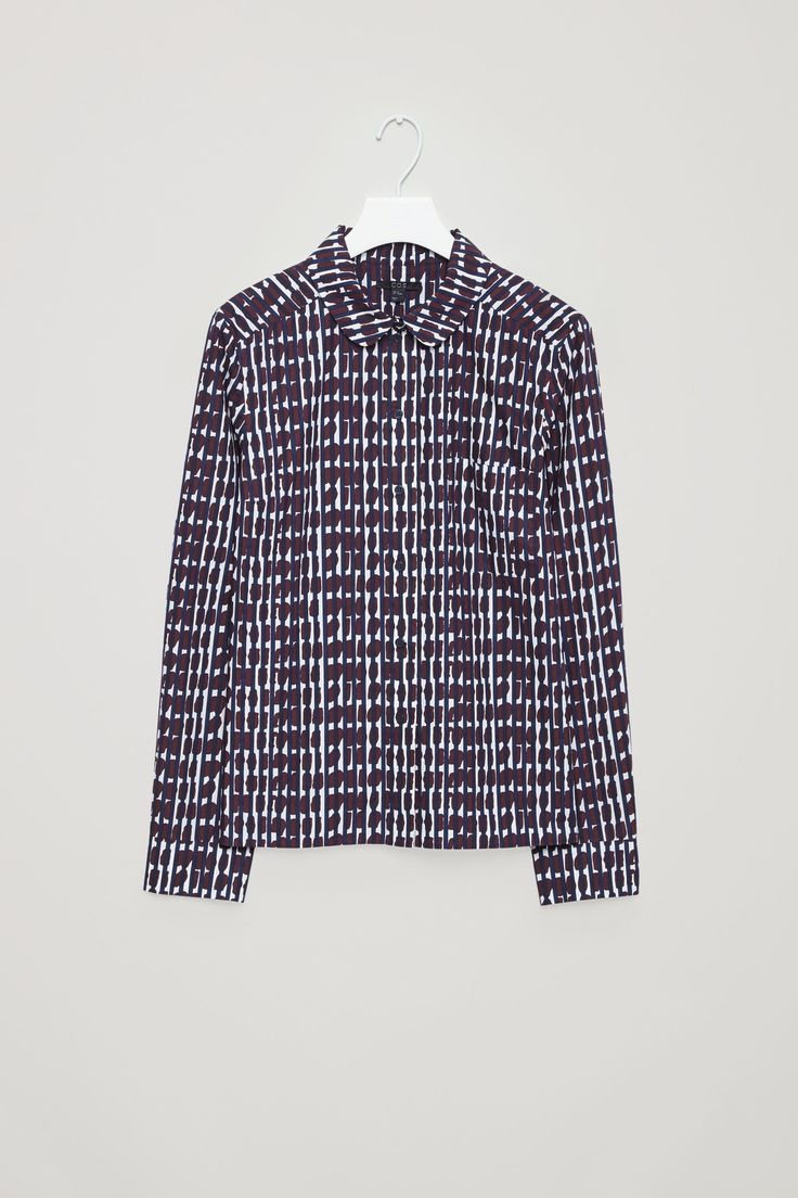 COS image 4 of Printed boxy shirt in Cherry
