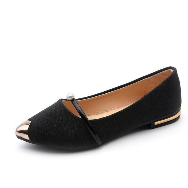 Spring New Ladies Flat Shoes Casual Women Shoes Comfortable Pointed Toe Flat Shoes
