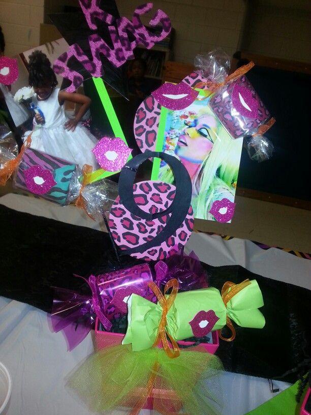 Nicki Minaj Theme Birthday Party Centerpieces By Diva