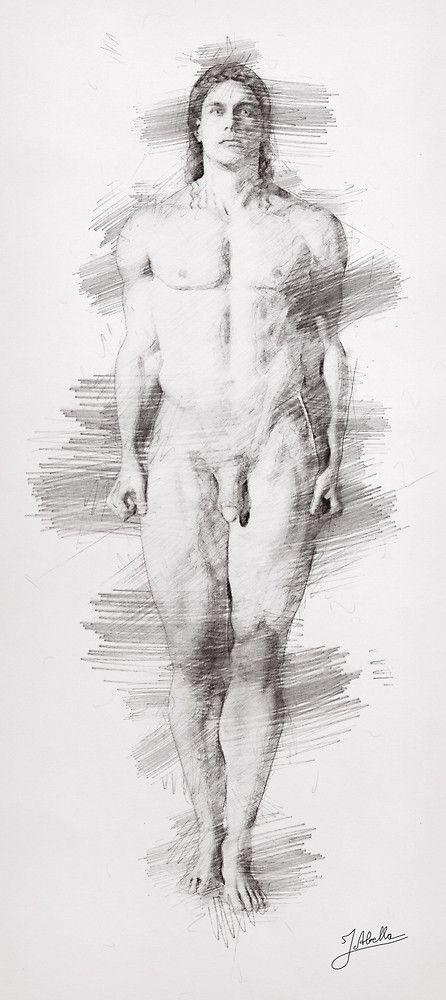 «Kouros a lápiz» de Joaquin Abella