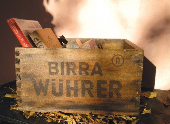 Cassa in legno per bottiglie di birra Wuhrer di Rimodern su Etsy, €60,00