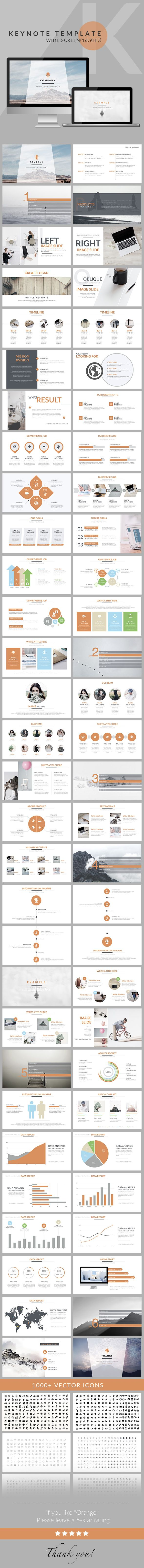 Orange - Clean trend business Keynote Template