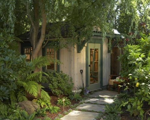 sauna in the backyard