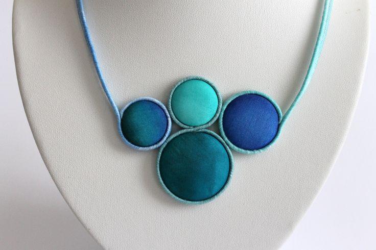 Hand dyed silk jewelry ba Koria Design www.facebook.com/koriadesign
