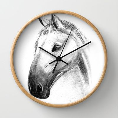 Horse Tales Wall Clock by clickybird - Belinda Gillies - $30.00