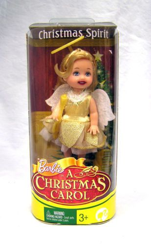 "2008 Kelly Barbie Christmas Spirit ""A Christmas Carol"" Angel Doll 8735 NRFB"