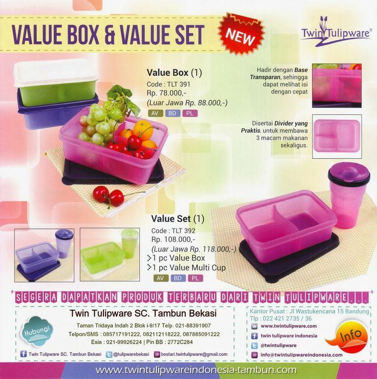 Produk Baru Twin Tulipware 2014 : Value Box & Value Set