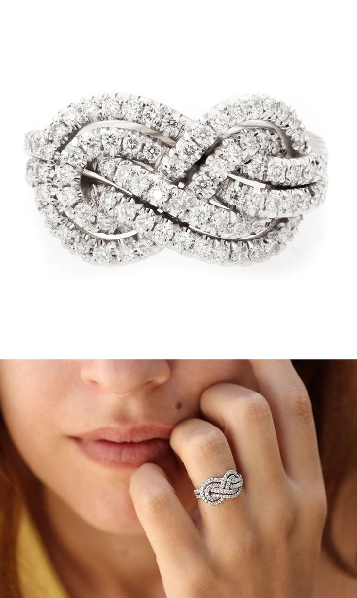 Double infinity knot alternative wedding rings // Women in Weddings Weigh in on Engagement Rings