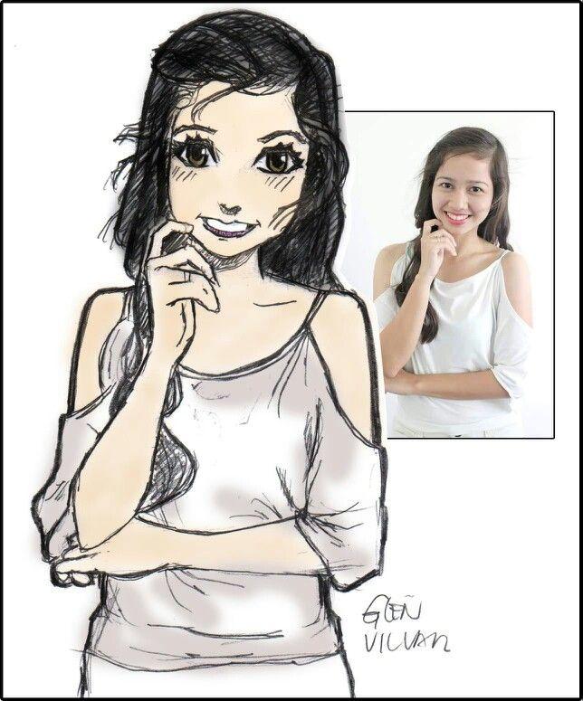 Cartoon style portrait