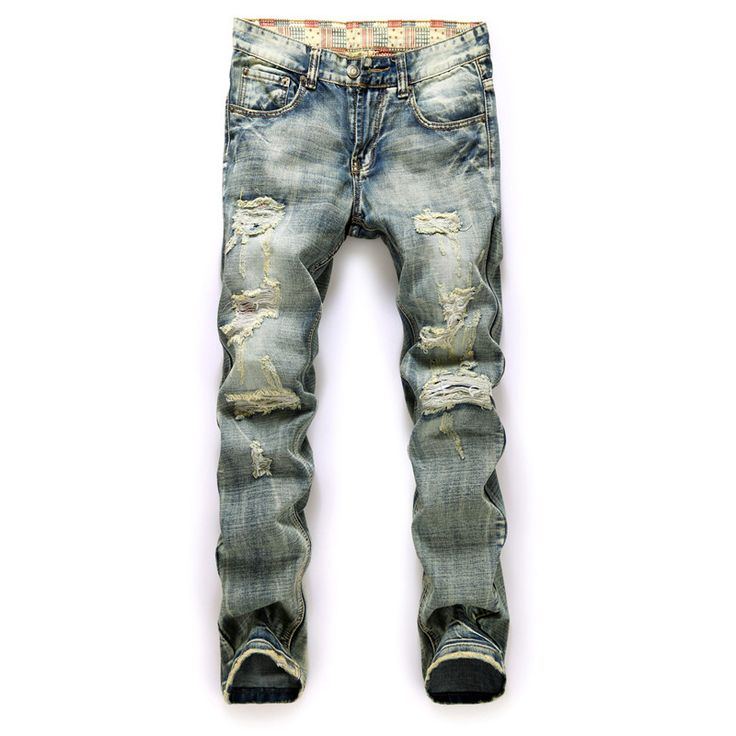 http://fashiongarments.biz/products/men-ripped-jeans-cotton-classic-design-destroyed-straight-jeans-for-men-denim-pants-with-hole/,   SIZE chart:  Model One: ,   , fashion garments store with free shipping worldwide,   US $36.57, US $25.60  #weddingdresses #BridesmaidDresses # MotheroftheBrideDresses # Partydress