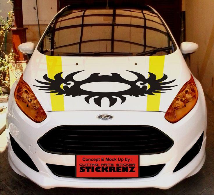 Car Custom Hood Cutting Sticker Concept - Fiesta 005