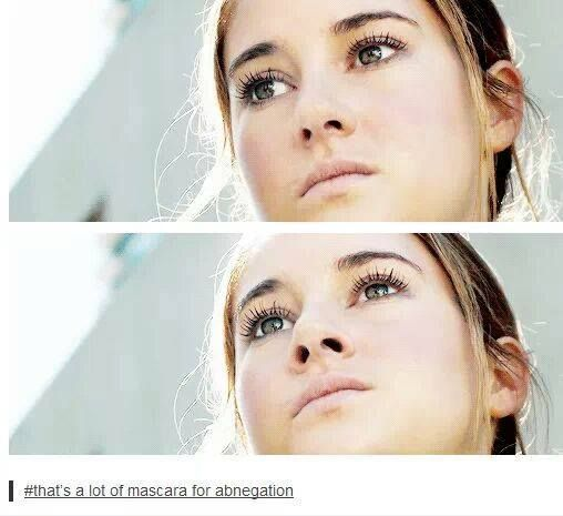 Correction: That is WAAAYYY too much mascara for abnegation.