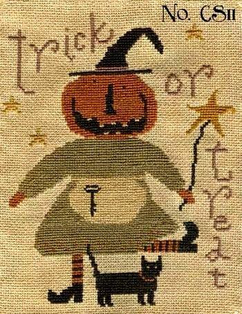 Primitive Cross Stitch Pattern Tricks & by FiddlestixDesign, $9.00