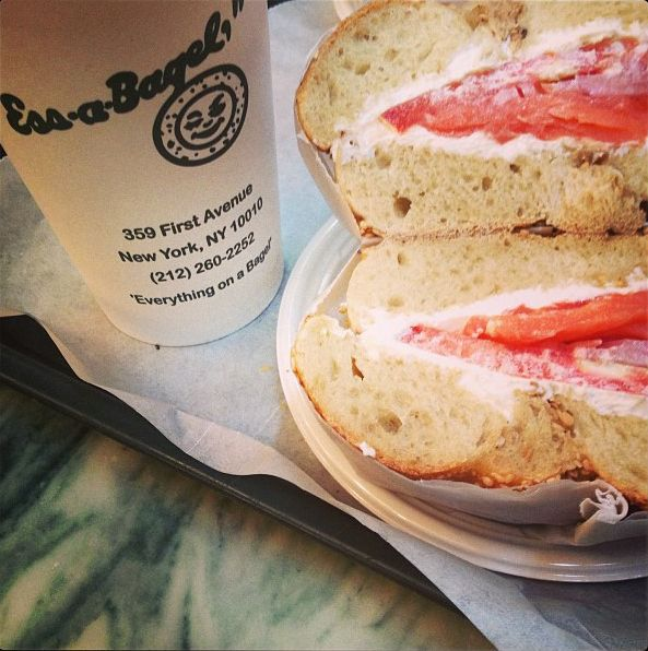 what to eat in NYC ..   Lox bagel from Ess-a-Bagel: | 18 Foods Everyone Must Try Before Leaving NYC