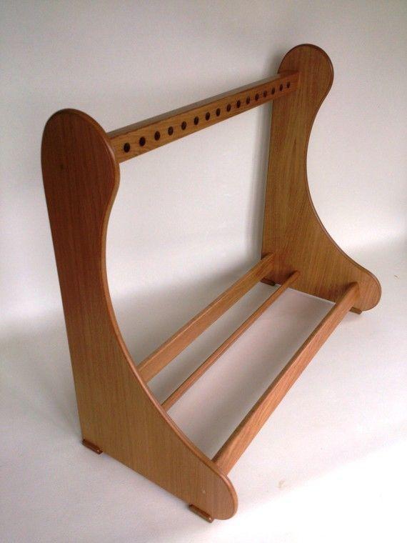 light oak wood guitar case rack stand for 5 cases right view thoughts guitar case light oak. Black Bedroom Furniture Sets. Home Design Ideas