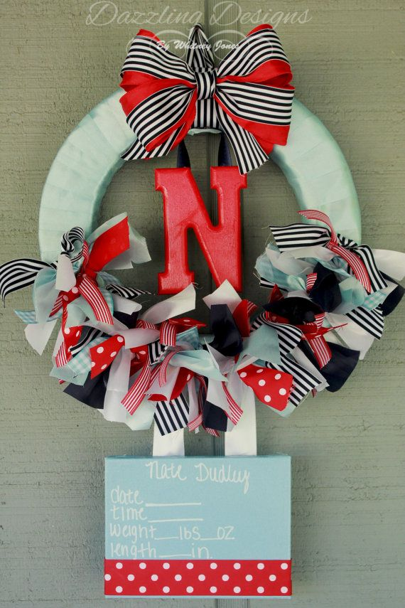 ANNOUNCE YOUR LITTLE ONE INTO THE WORLD WITH THIS BEAUTIFUL WREATH!!!