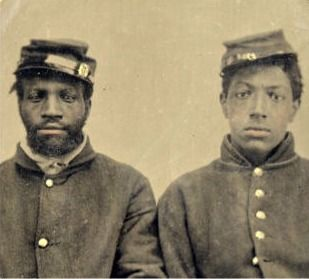 In actual numbers, African-American soldiers comprised 10% of the entire Union Army. The 54th Massachusetts was the first black regiment, and they entered the war in 1863.