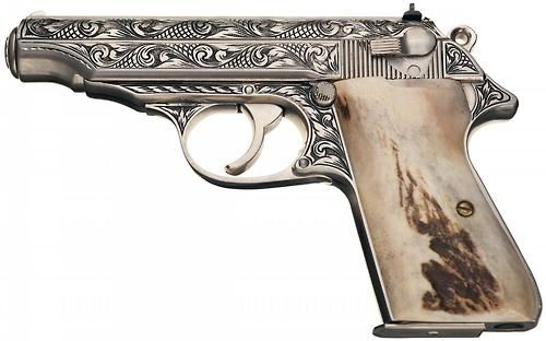 "Custom Engraved Walther PP | Signed by engraver ""Shostle"""