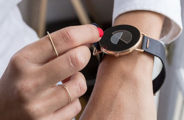 Shammane's crowdfunded smartwatch puts the 'chic' into 'geek chick'. It's designed for women, with rose gold finishes and leather bands.