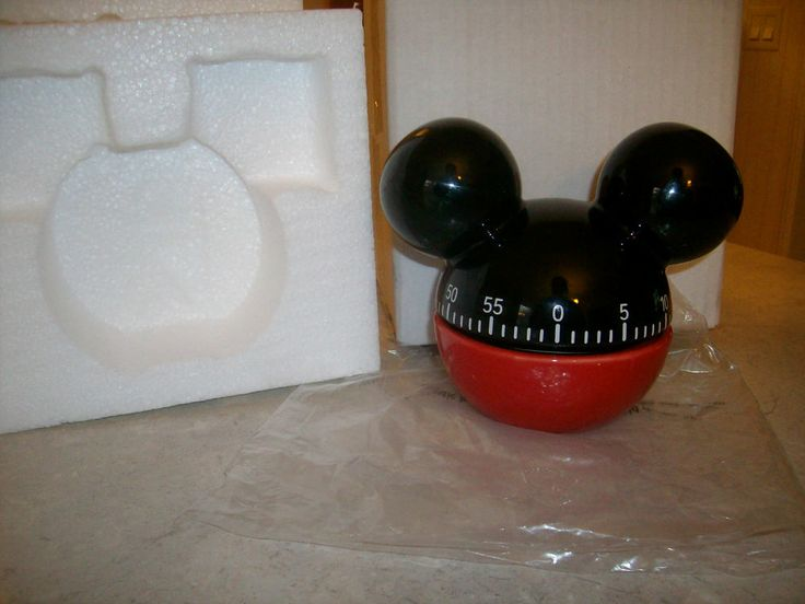 NIB Mickey Mouse Kitchen Timer- Red & Black