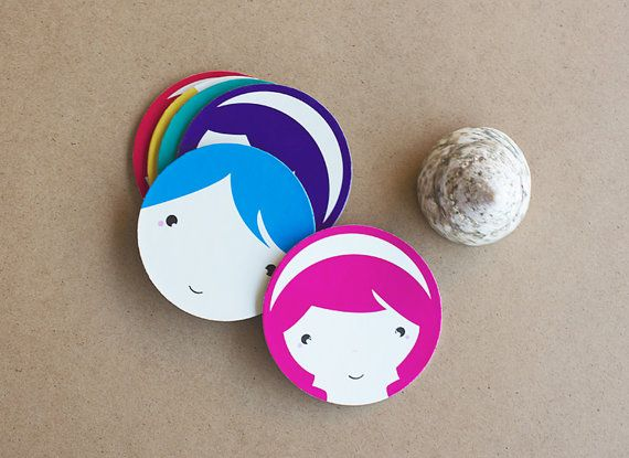 Summer paper coasters Kids Party Spring EcoFriendly by MessProject, €14.00  #summer #party #kids