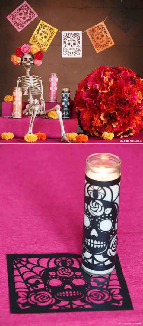 Day of the Dead Candle Wraps - Lia Griffith - created via https://pinthemall.net