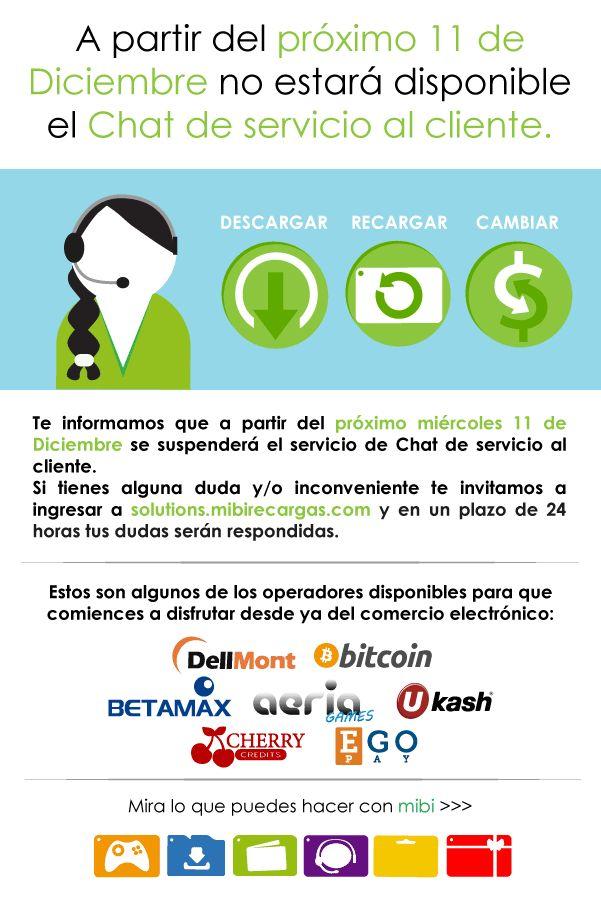 Atención al cliente mibi: Si quieres saber más sobre nuestros servicios y/o tienes dudas, te invitamos a que ingreses a http://solutions.mibirecargas.com/